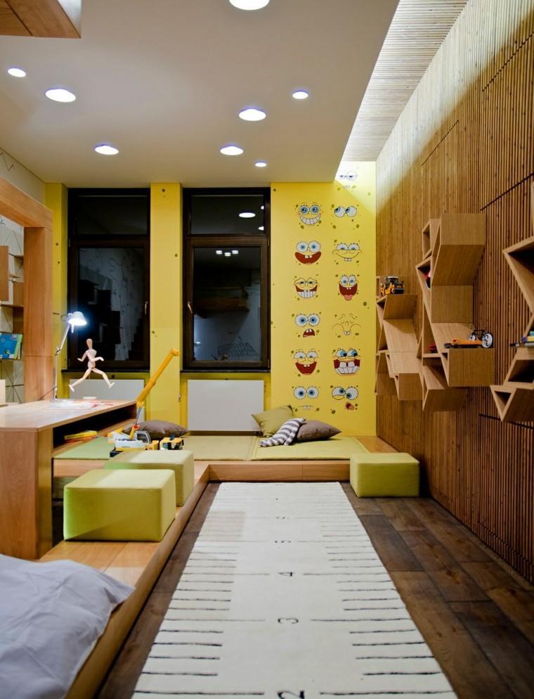 bob esponja pared habitacion nino pequeno ideas