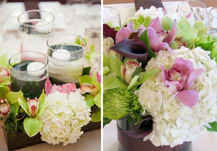 boda velas decoracion hojas fuego