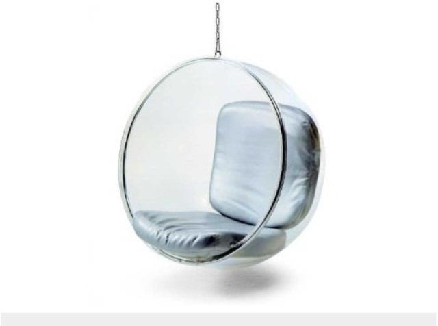 bola colgante transparente con cadena