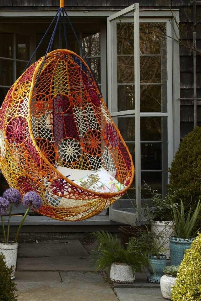 Columpios y sillas colgantes para el jard n 50 ideas for Ideas para hacer un techo en el patio