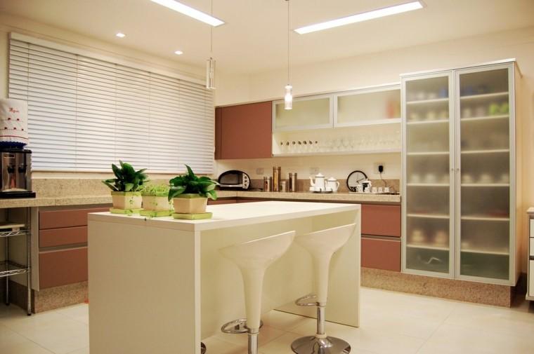 bonita cocina diseño colores neutros