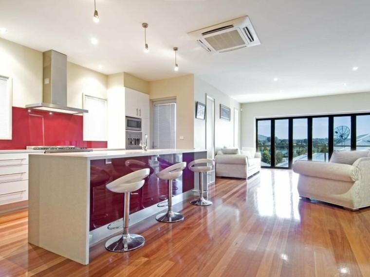 Dise o de cocinas modernas 100 ejemplos geniales for Cocinas con isla y salon