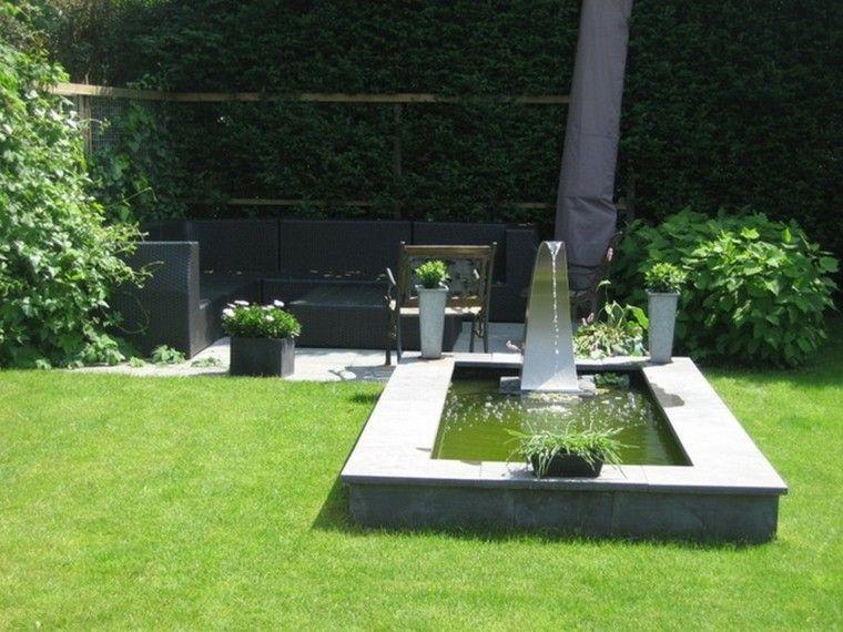 bonita fuente estilo moderno zen
