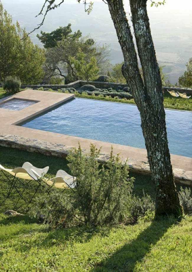 bonita piscina vistas valle montaña