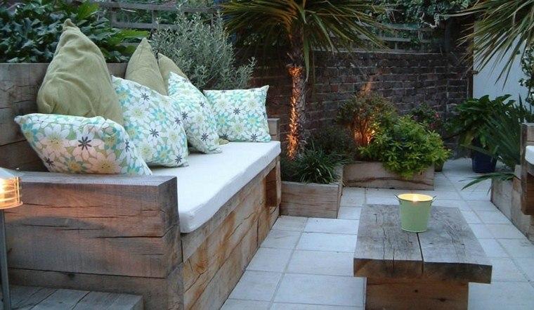 muebles de jardín de madera natural