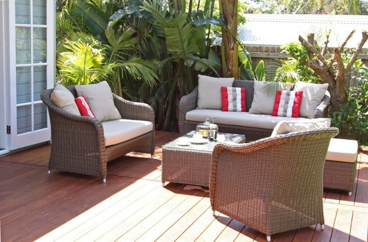 bonito diseño muebles jardin ratán