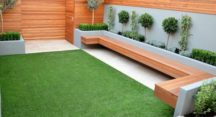 bonito jardin banco madera teca