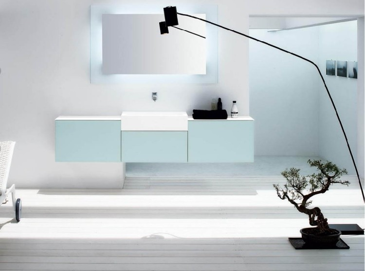 bonsai iluminado baño diseño relax