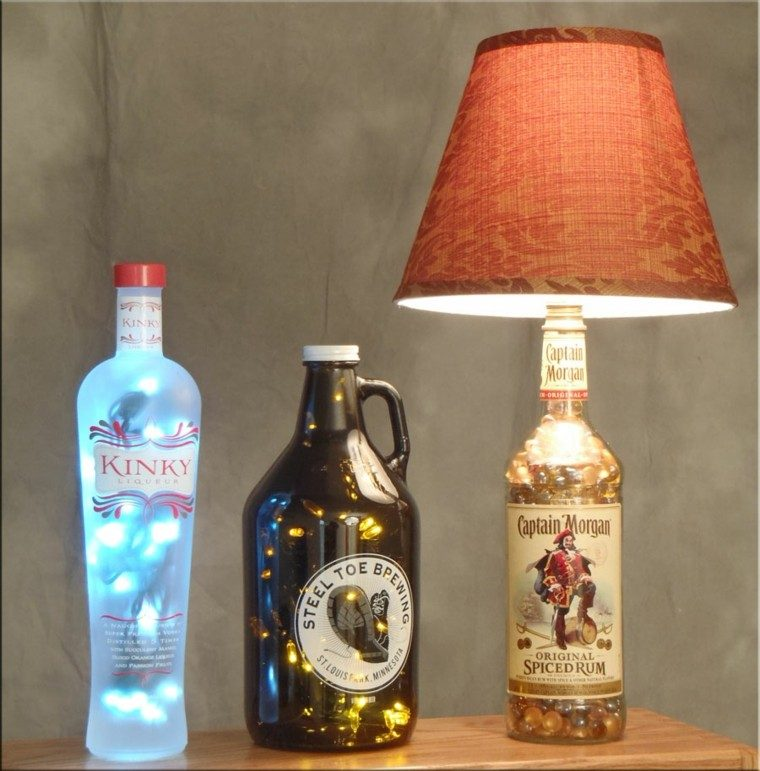 botella ron morgan diy luces