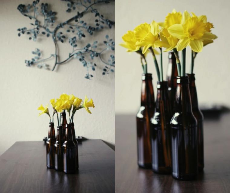 botellas bebidas amarillo cerveza ambar