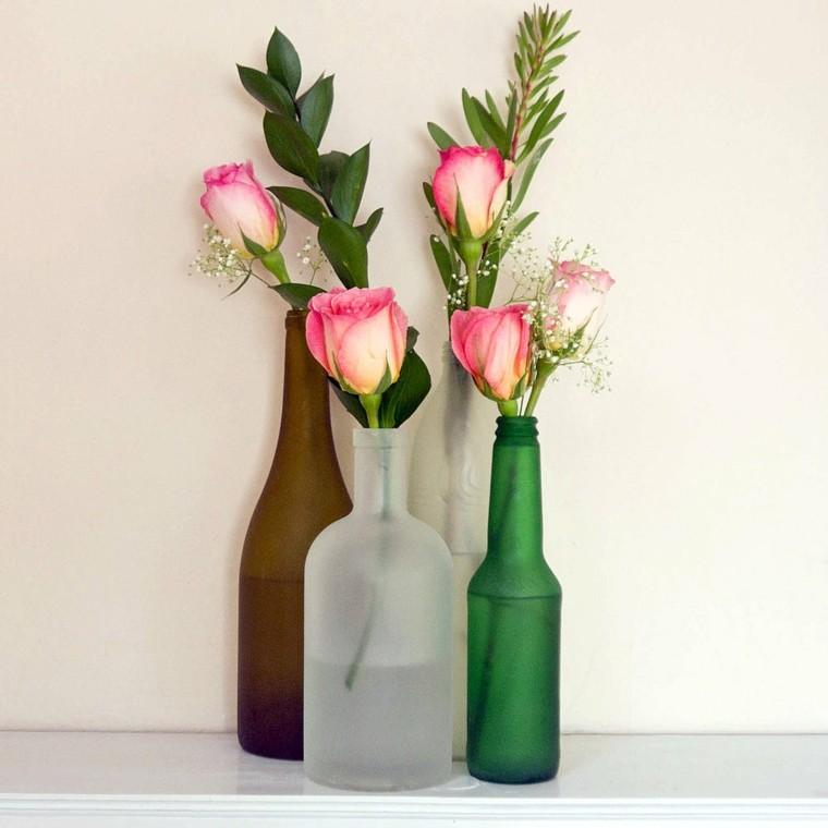 botellas bebidas colores casa rosa