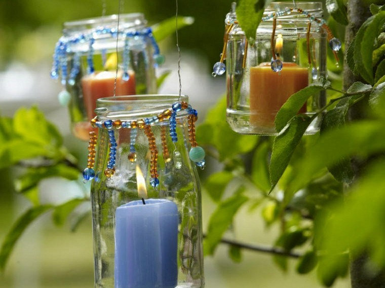 botes tarros colgantes cristal velas