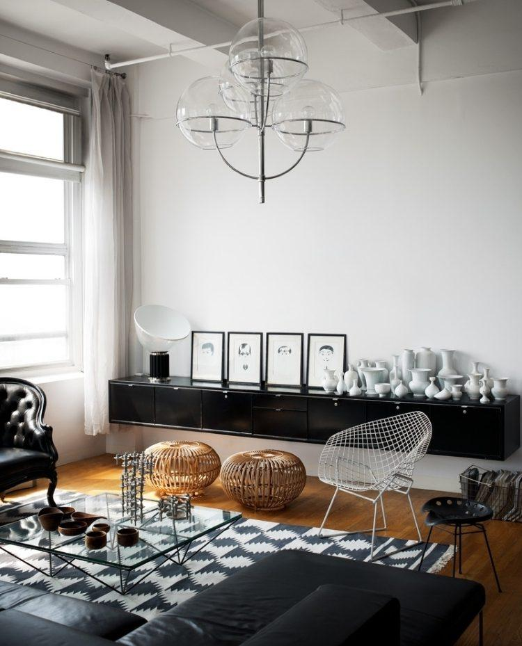 botes decorativos distinta forma tamano blancos armario negro ideas