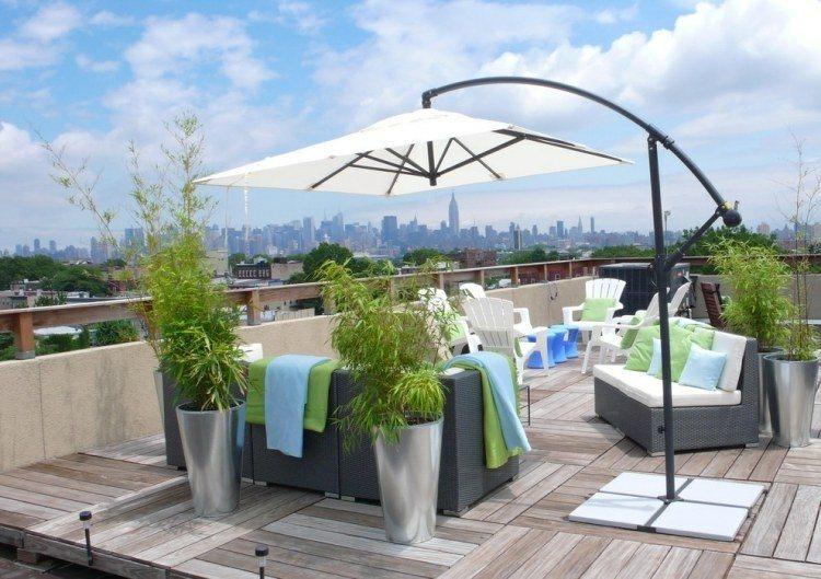 cañas de bambu decorativas terraza