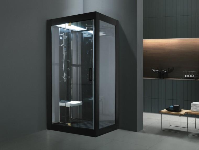 diseño cabina ducha color negro