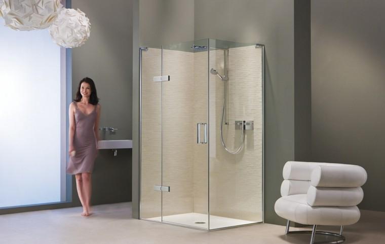 Duchas de obra cincuenta ideas estupendas - Cabina ducha rectangular ...