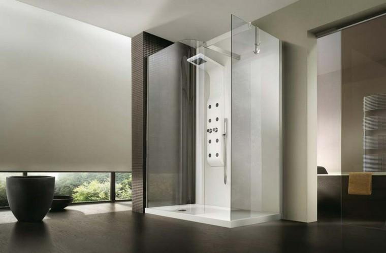cabina ducha obra estilo futurista