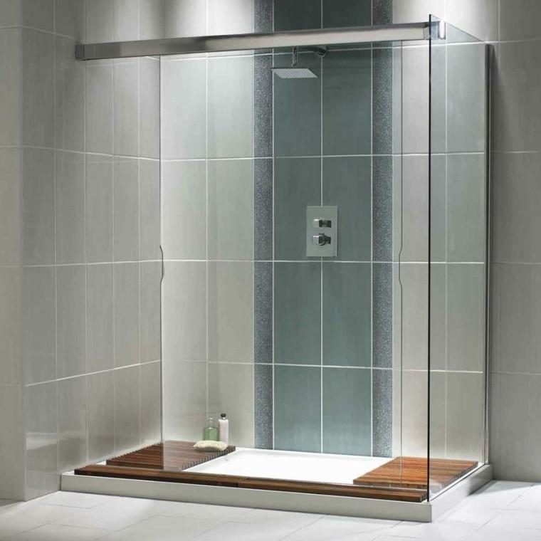 cabina ducha obra moderna gris