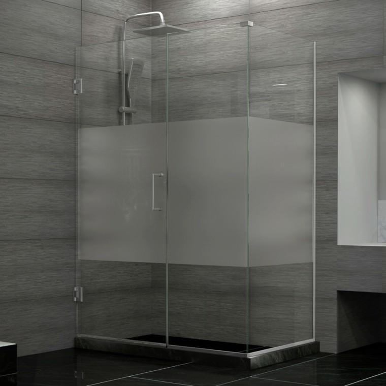cabina ducha vidrio transparente translucida