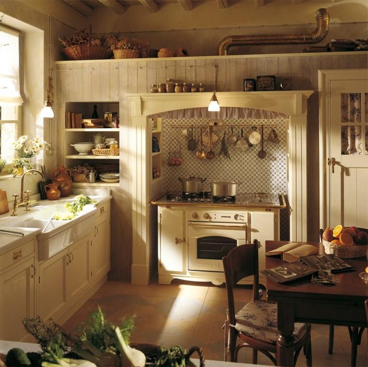 calido ambiente cocina campestre acogedora