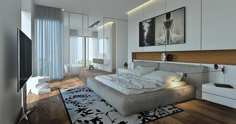 cama acolchada color gris alfombra