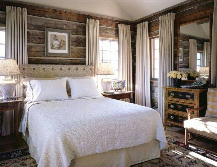 cama colores blanco cortinas cuadros