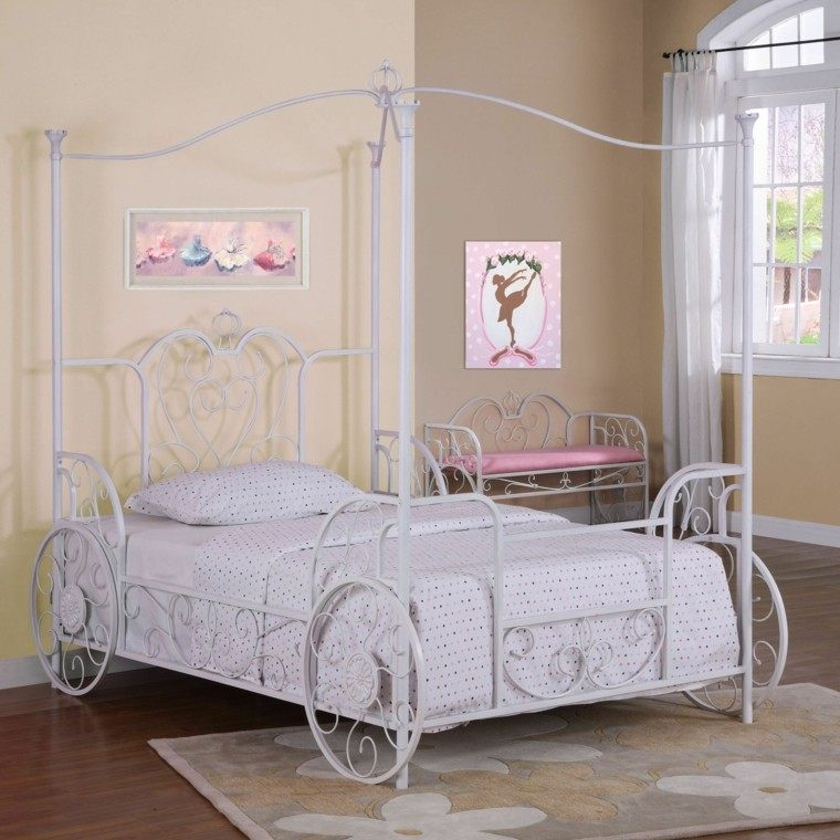 Para ni as caprichosas 25 ideas de habitaciones preciosas - Dosel para cama nina ...