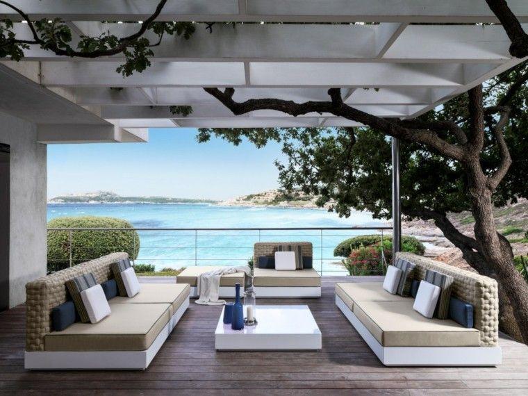 Canap s sof s y sillones 50 ideas para exteriores modernos for Arredo esterno