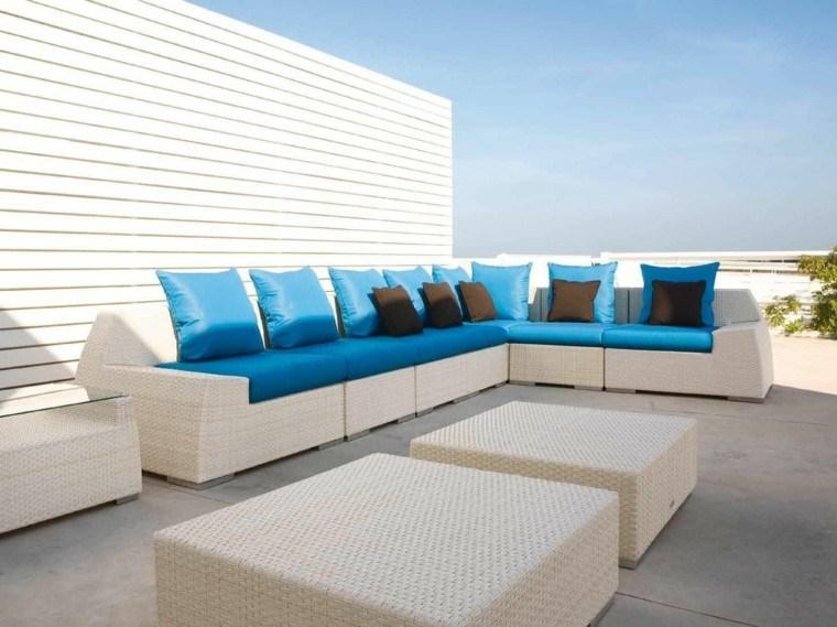 Canap s sof s y sillones 50 ideas para exteriores modernos - Cojines para sofas de jardin ...