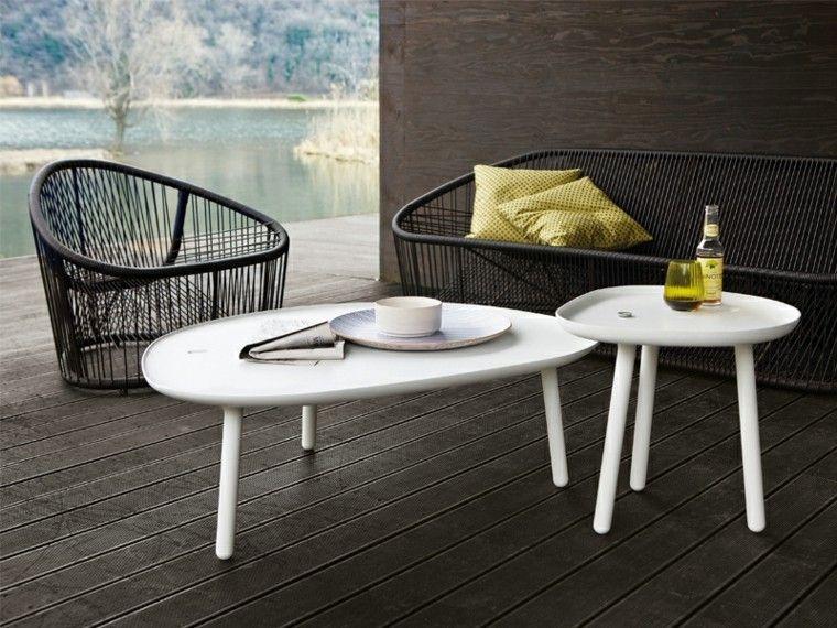 canapés sillon sofa metal mesas blancas jardin ideas