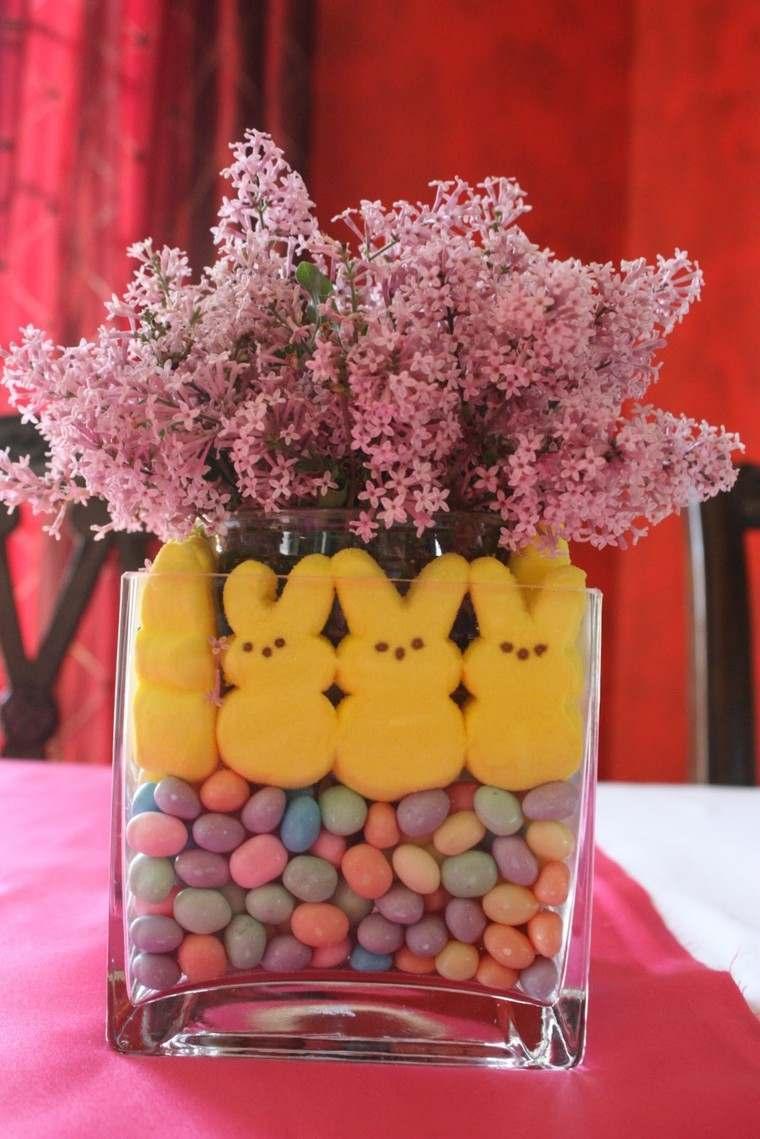 caramelos colores flores bombones conejos