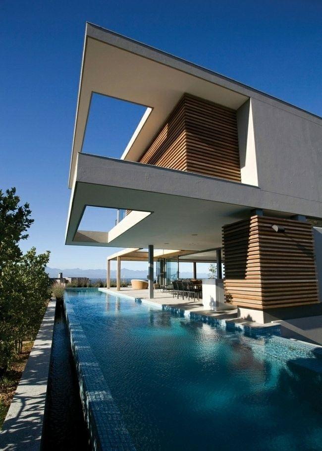 casa diseño moderno piscina alrededor