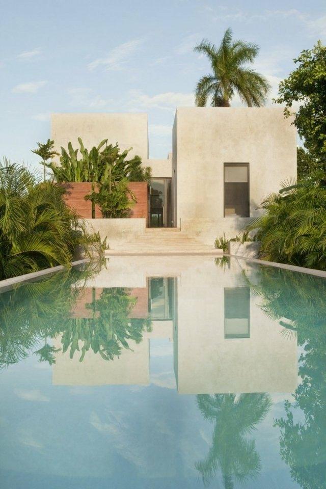 casa moderna estilo marroqui piscina
