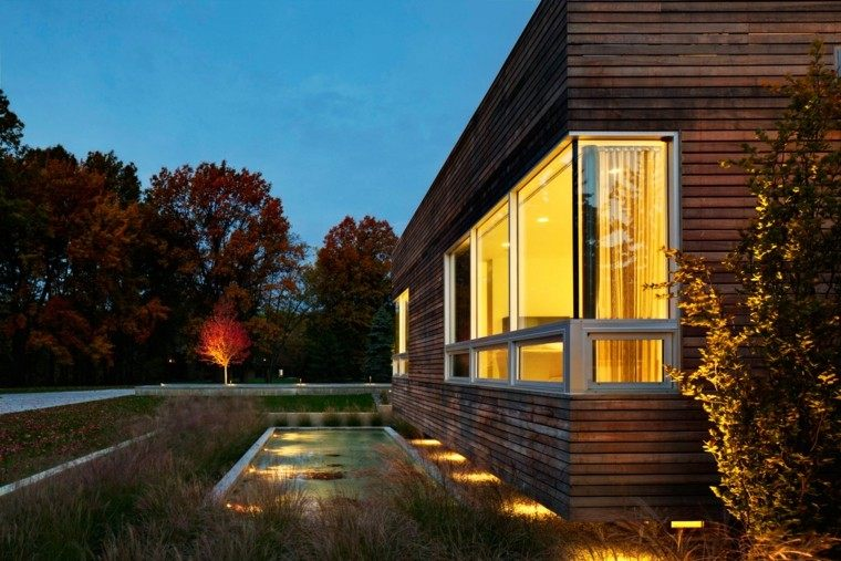 casa moderna paisaje minimalista seco