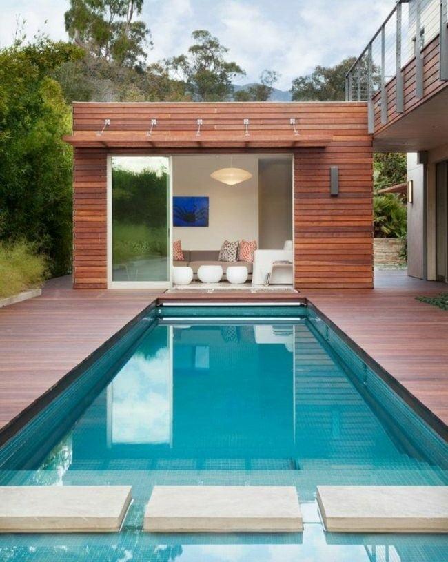 construccion de piscinas en el jardín - 103 ideas