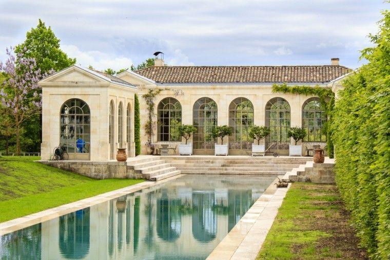 casa ventanales terraza macetas grandes preciosa ideas