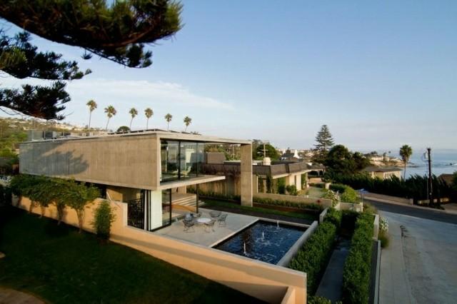 casa moderna dos plantas piscina