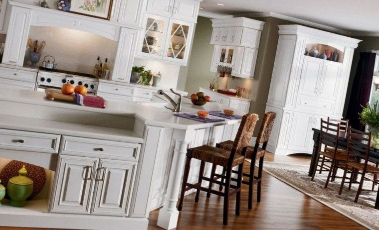 casas de campo blanco mobiliario fregadero
