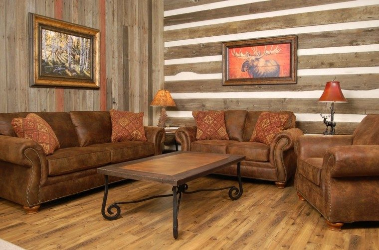 Casas de campo 50 variantes para decorarlas con estilo for Country western living room decorating ideas
