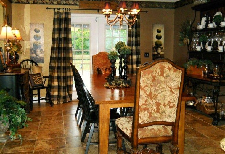 casas de campo granito cortinas mesa
