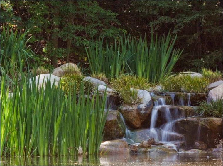 cascadas cataratas jardines modernos piedras