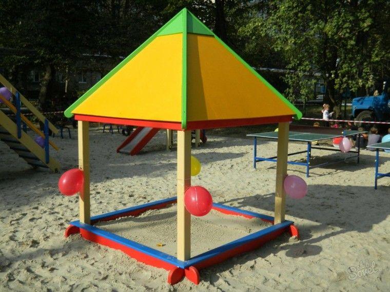 caseta arena tejado colores globos