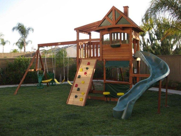 parques infantiles en el jard n para un verano divertido. Black Bedroom Furniture Sets. Home Design Ideas