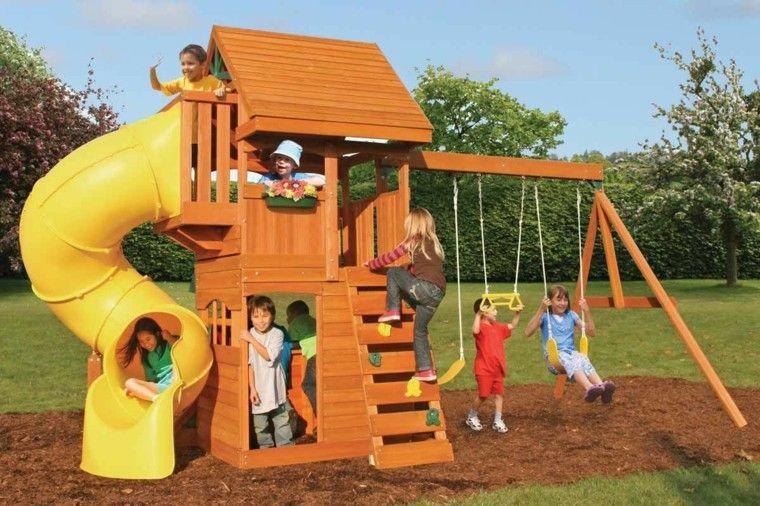Parques infantiles en el jard n para un verano divertido - Columpios y toboganes para jardin ...