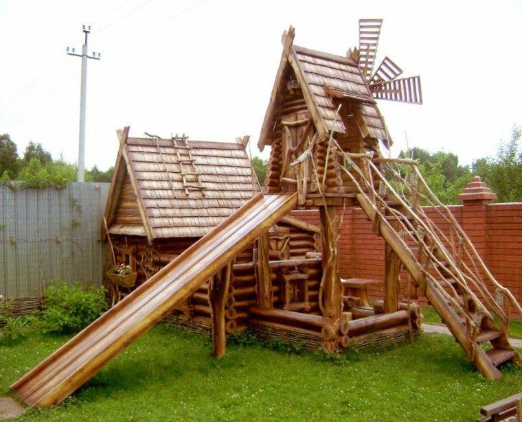 casita niños molino simil madera