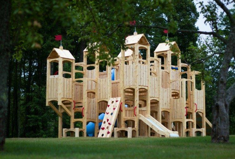 castillo fortaleza madera clara torres
