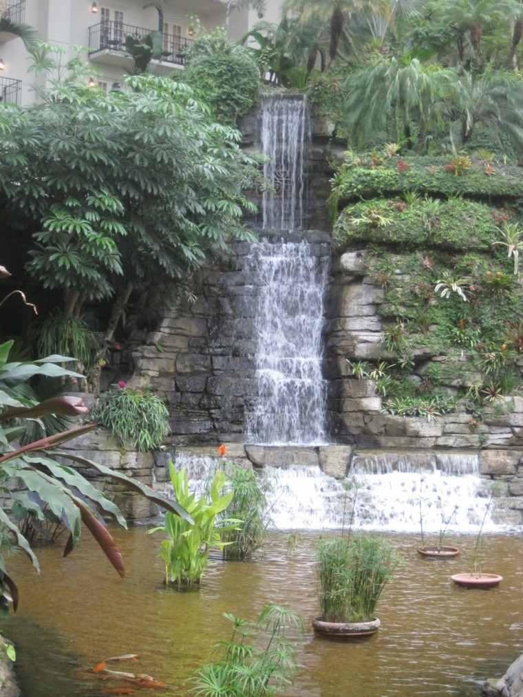cataratas altas cascadas plantas agua