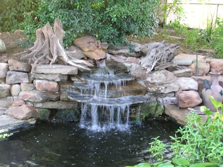 cataratas jardin fuente piedras rocas