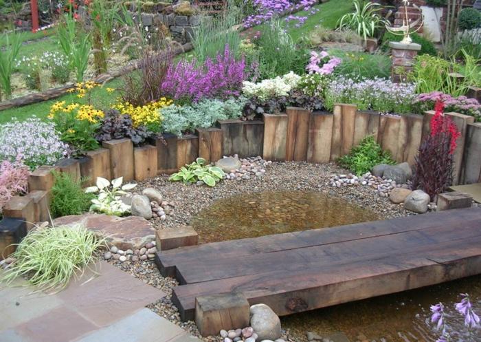 Vallas de jard n de estacas de madera empalizadas - Vallas para jardin ...