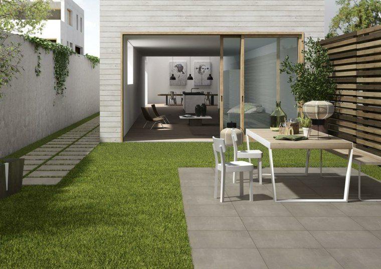 Baldosas para el jard n moderno 50 ideas preciosas for Jardines muy pequenos modernos